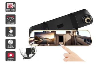 Kogan Rear View Mirror with Dash and Reverse Camera
