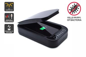 Kogan Smartphone Sanitiser & Universal Charger (Black)