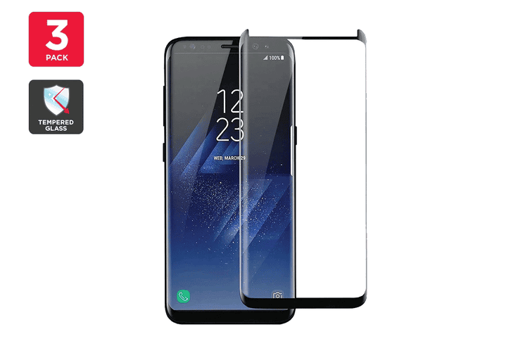 Premium Tempered Glass Screen Protector for Samsung Galaxy S8 Plus - 3 Pack