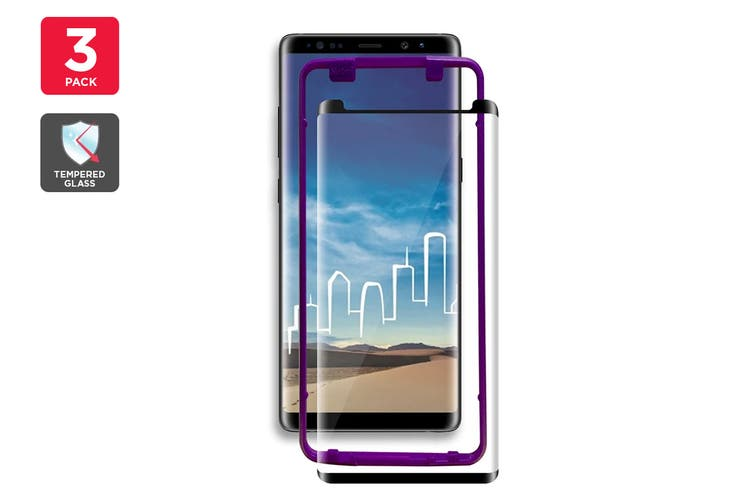 Samsung Note 9 Curved Edge 3D Case Version Tempered Glass Screen Protector with Installer - 3 Pack