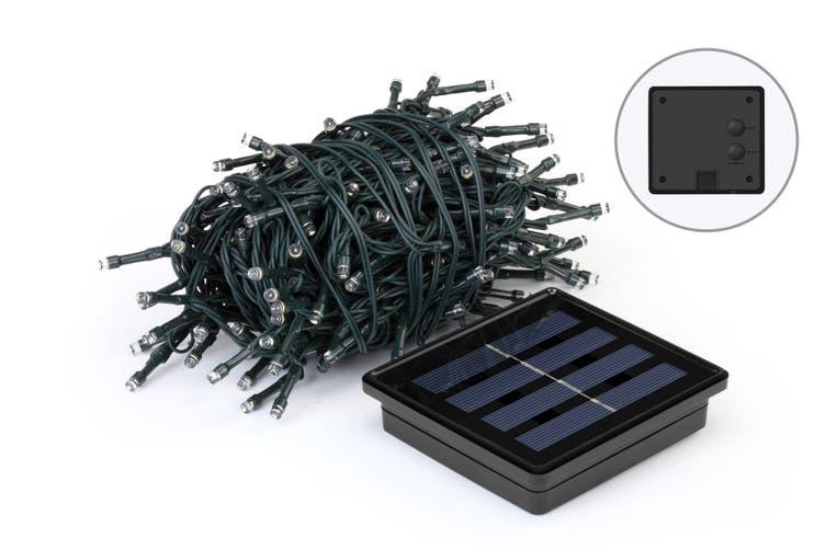 Solar Powered String LED Light (200 LED, Warm White, 21.9m)
