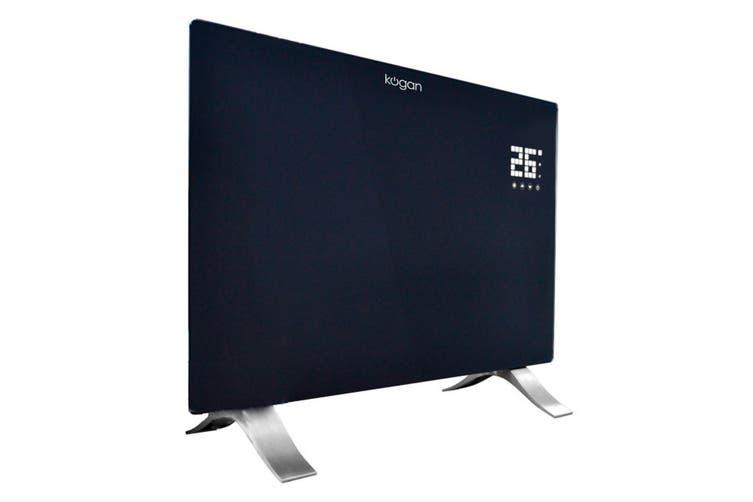 Kogan SmarterHome™ 2400W Smart Glass Panel Heater (Black)
