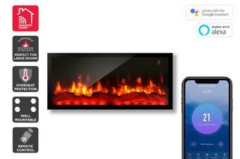 Kogan SmarterHome™ 1800W Multi-Colour Flame Effect Slimline Heater