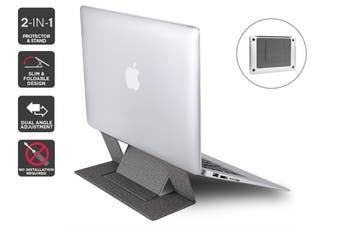 Kogan Ultra Slim Magnetic Laptop Protector & Stand (Grey)