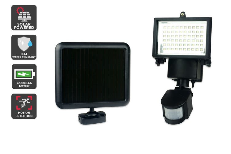 Solar Powered Motion Sensor LED Flood Light (4500 mAh, 60 LED)