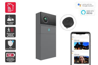 Kogan SmarterHome™ Smart Doorbell 2 Pro (Space Grey)