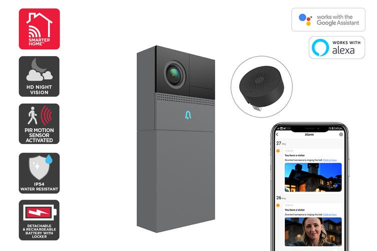 Kogan SmarterHome™ Smart Doorbell 2 Pro (Space Grey)