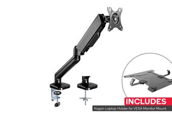 Kogan Full Motion Gas Spring Single Monitor Mount with Laptop Holder Combo
