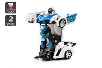 2-in-1 Remote Control Transforming Car (Blue)