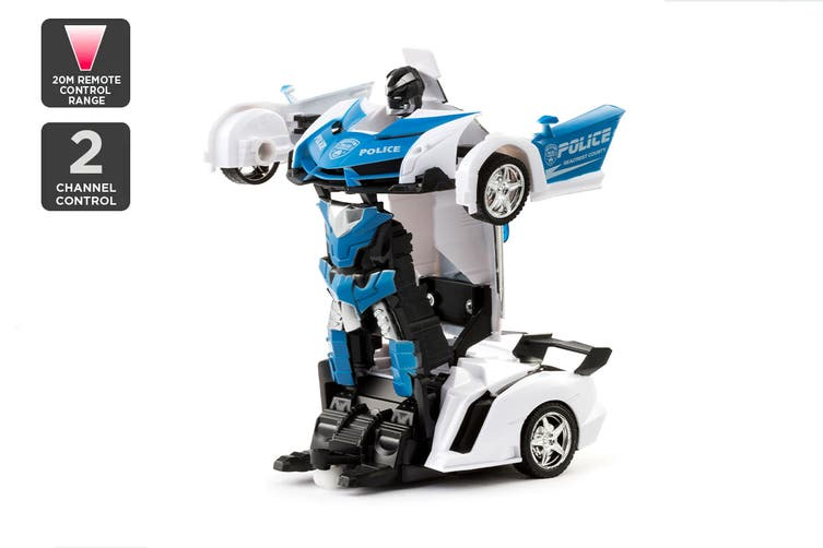 2-in-1 Remote Control Transforming Car (Blue)