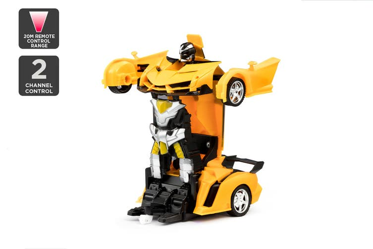 2-in-1 Remote Control Transforming Car (Yellow)