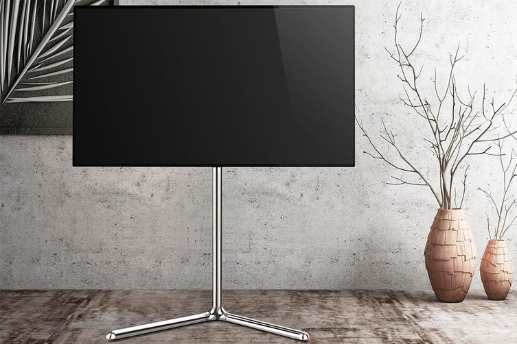 "Kogan Halden Studio TV Stand for 49 - 70"" TVs (Chrome)"