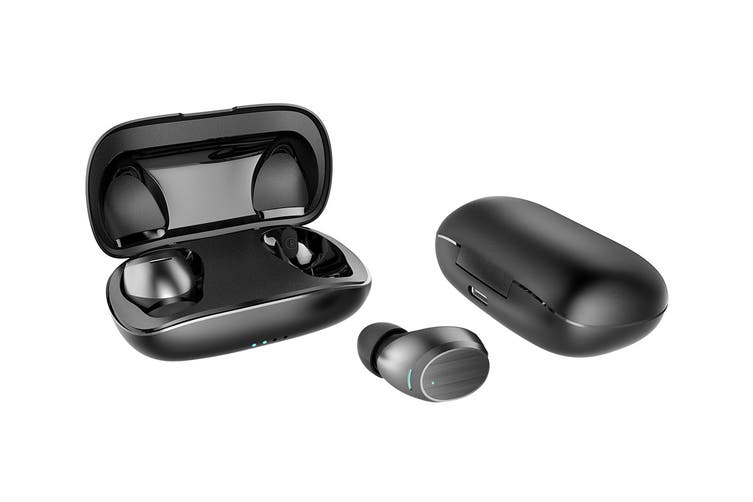 Kogan F2 True Wireless Earbuds with Metal Carry Case