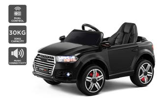 Kids Audi-Inspired Ride-On Car (Black)
