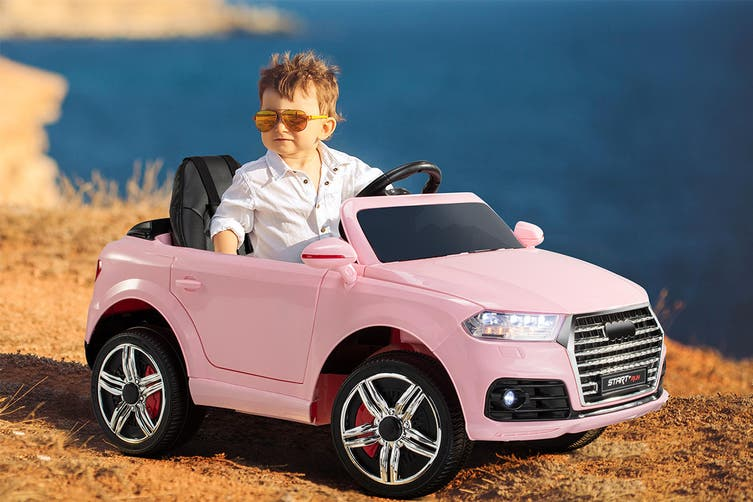 Kids Audi-Inspired Ride-On Car (Pink)