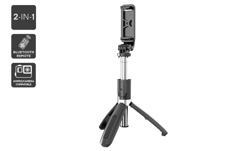 Kogan 2-in-1 Premium Bluetooth Selfie Stick and Tripod