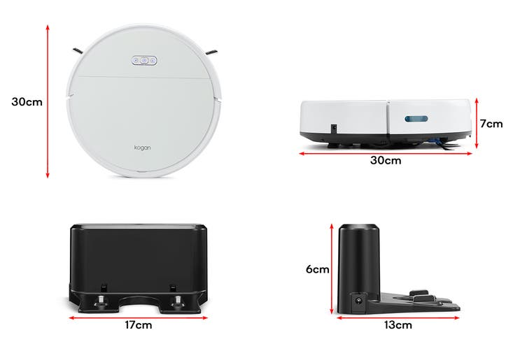 Kogan SmarterHome™ G60 Robot Vacuum with Mopping Function