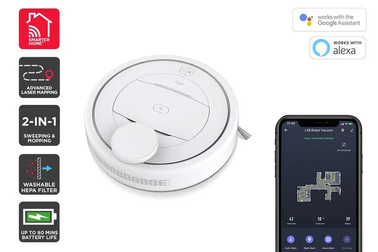 Kogan SmarterHome™ LX8 Robot Vacuum Cleaner with Mopping Function