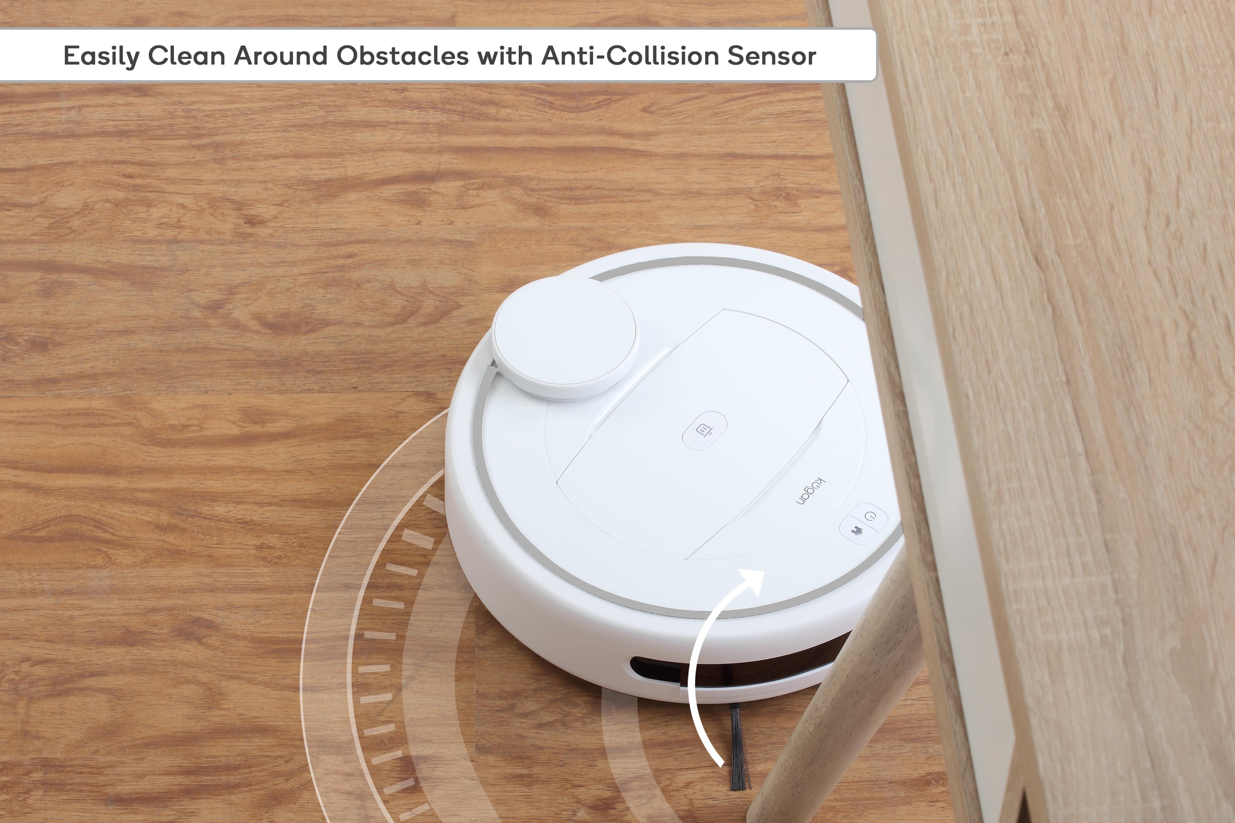 Easily clean around obstacles with anti-collision sensor