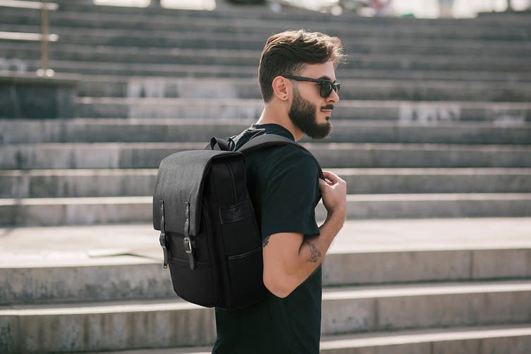 Voyager Backpack with USB Charging Port (Black)