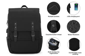 Voyager Backpack with USB Charging Port (Black)