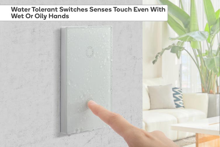 Kogan SmarterHome™ Smart Touch Light 2 Switch Gang
