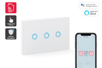 Kogan SmarterHome™ Smart Touch Light 3 Switch Gang