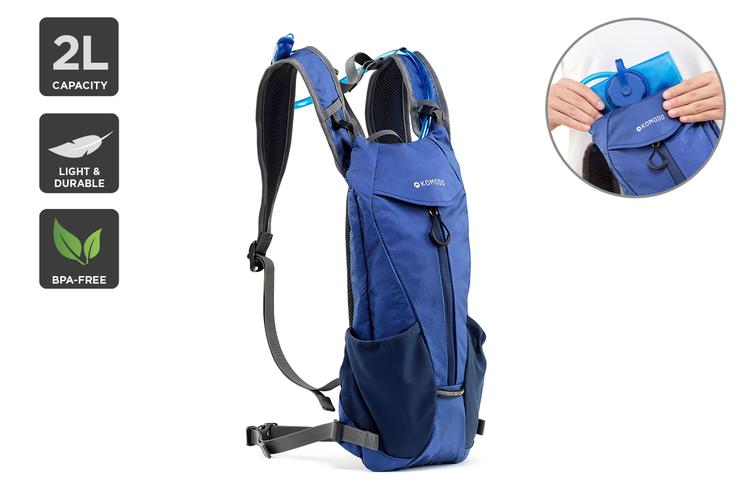 Komodo 2L Hydration Pack (Blue)