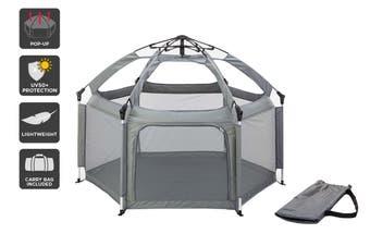 Komodo Indoor Outdoor Kids Playpen Instant Set Up (Grey)