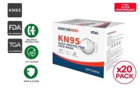 Aumacom Particulate Respirator Folding Daily Protective Mask KN95 (20 Pack)