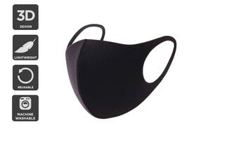 Reusable Washable Lightweight Face Mask (Black)