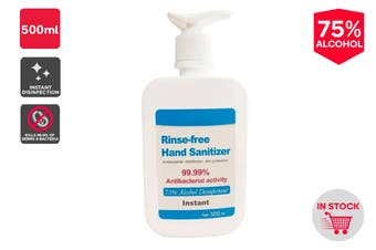75% Alcohol Instant Hand Sanitiser (500ml) - Pump Dispenser