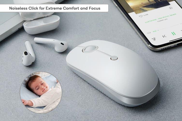 Kogan M650 Ultra Portable Adjustable DPI 2.4GHz Wireless Mouse (White)