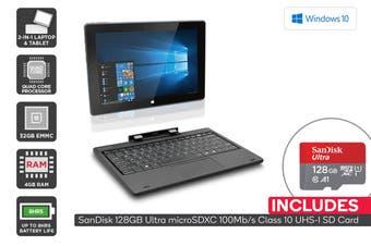 "Kogan Atlas 10.1"" 2-in-1 D400 Touchscreen Laptop + 128GB Micro SD Card Bundle"