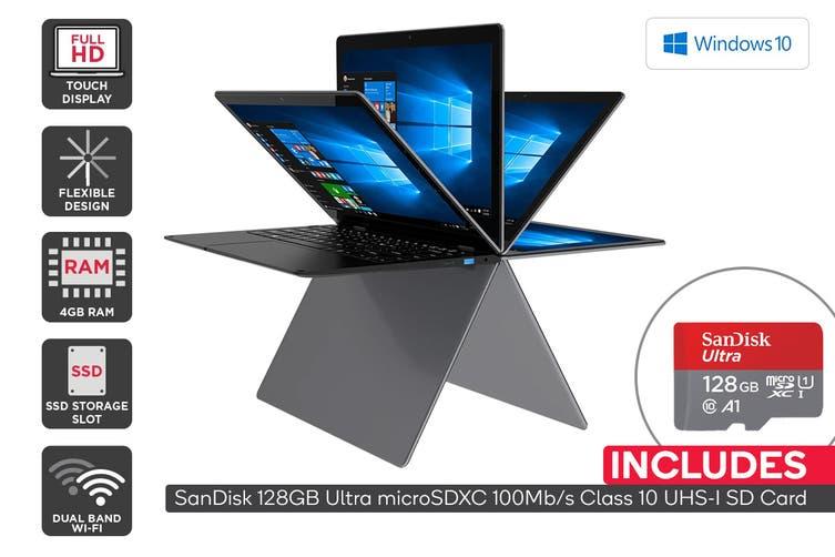 """Kogan Atlas 13.3"""" Y300 Convertible Laptop + 128GB Micro SD Card Bundle"""