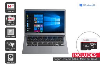 "Kogan Atlas 14.1"" N400 Laptop (8GB, 128GB) + 128GB Micro SD Card Bundle"
