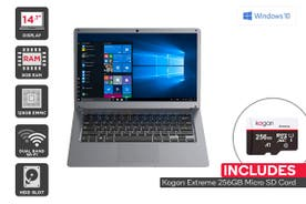 "Kogan Atlas 14.1"" N400 Laptop (8GB, 128GB) + 256GB Micro SD Card Bundle"