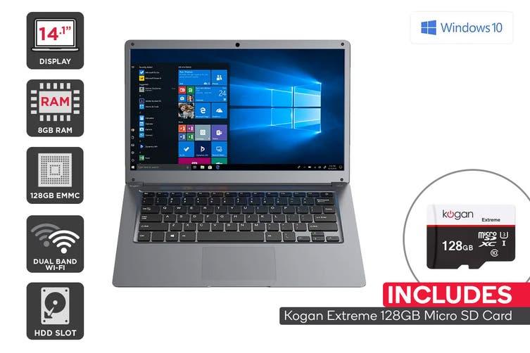 "Kogan Atlas 14.1"" N550 Laptop (8GB, 128GB) + 128GB Micro SD Card Bundle"