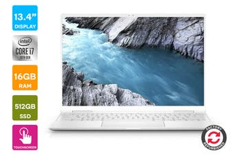 "Dell XPS 13 7390 13.4"" FHD+ 2-in-1 Convertible Windows 10 Laptop (i7-1065G7, 16GB RAM, 512GB SSD, White) - Certified Refurbished"