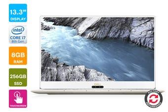 "Dell XPS 13 9370 13.3"" 4K UHD Windows 10 Touch Screen Laptop (i7-8550U, 8GB RAM, 256GB, Rose Gold) - Certified Refurbished"