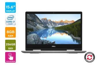 "Dell Inspiron 15 5584 15.6"" FHD Windows 10 Touch Screen Laptop (i7-8565U, 8GB RAM, 256GB, Silver) - Certified Refurbished"