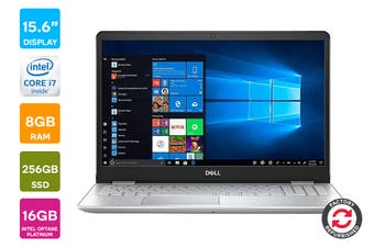"Dell Inspiron 15 5584 15.6"" FHD Windows 10 Laptop (i7-8565U, 8GB RAM, 256GB SSD + 16GB Optane, Platinum Silver) - Certified Refurbished"