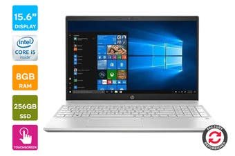 "HP Pavilion 15-cs1065cl 15.6"" Full HD Windows 10 Touchscreen Laptop (i5-8265U, 1.6GHz , 8GB RAM, 256GB SSD, Silver) - Certified Refurbished"
