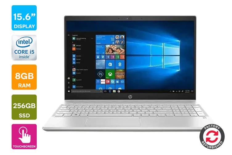 "HP Pavilion 15-cs1065cl 15.6"" Full HD Windows 10 Touchscreen Laptop (i5-8265U, 1.6GHz , 8GB RAM, 256GB SSD, Silver) - Certified Refurbished"