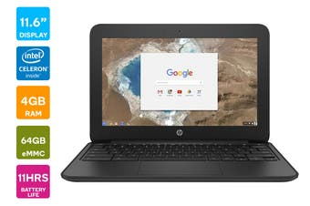 "HP 11.6"" HD Chromebook 11 G5 Celeron N3060 4GB RAM 16GB eMMC Chrome OS Laptop (HP-1FX82UT)"