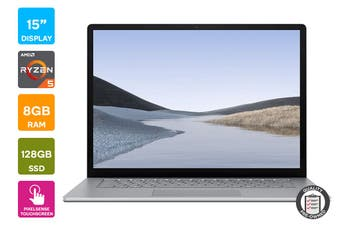 "Refurbished Microsoft Surface Laptop 3 15"" (128GB, Ryzen 5, 8GB RAM, Platinum) - AU/NZ Model"