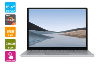 "Microsoft Surface Laptop 3 15"" (256GB, Ryzen 5, 8GB RAM, Platinum Metal) - AU/NZ Model"