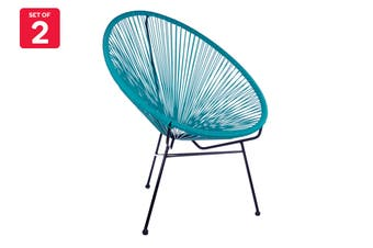 Matt Blatt Set of 2 Acapulco Outdoor Chair Replica (Blue)
