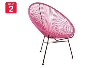 Matt Blatt Set of 2 Acapulco Outdoor Chair Replica (Pink)