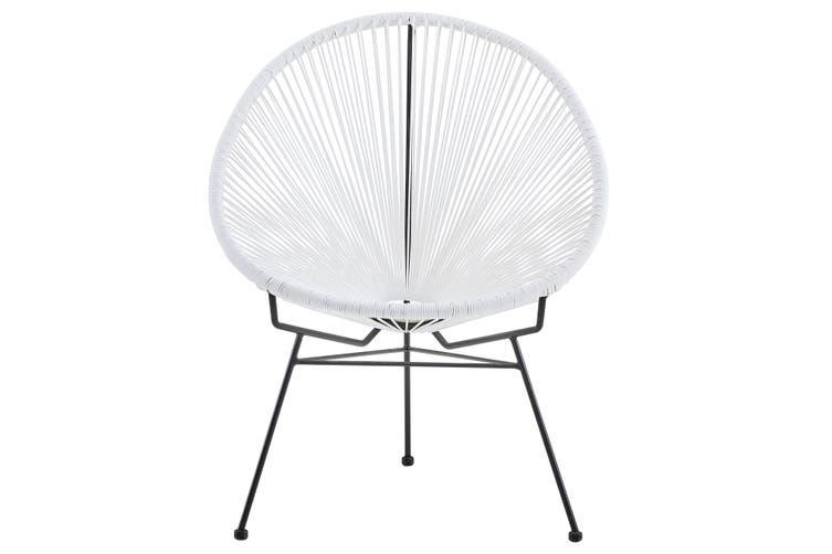 Matt Blatt Set of 2 Acapulco Outdoor Furniture Chair Replica (White)